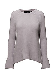 Flared sleeves sweater - LT-PASTEL PURPLE