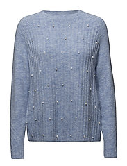 Pearls knitted sweater - LT-PASTEL BLUE