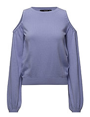 Cold-shoulder sweater - LT-PASTEL PURPLE