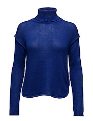 Turtleneck sweater - BRIGHT BLUE