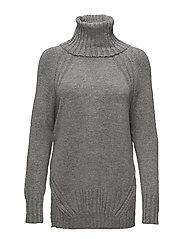 Turtleneck sweater - MEDIUM GREY