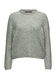 Pearls neckline sweater - TURQUOISE - AQUA