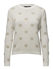 Polka-dot pattern sweater - LIGHT BEIGE