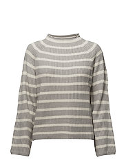 Knit striped sweater - MEDIUM GREY