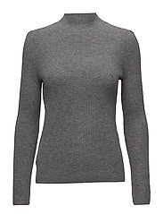 Ribbed wool-blend sweater - MEDIUM GREY
