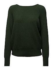 Back vent sweater - DARK GREEN