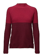 Contrast panel sweater - MEDIUM RED