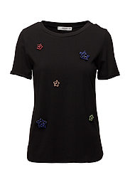 Bead t-shirt - BLACK