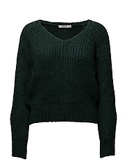 Chunky-knit sweater - DARK GREEN