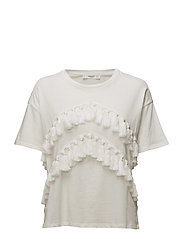 Pom pom cotton t-shirt - NATURAL WHITE