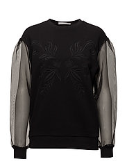 Contrast panels sweatshirt - BLACK