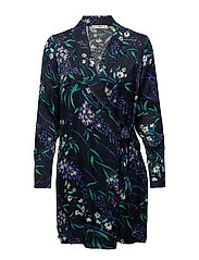 Floral wrap dress - NAVY