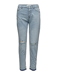 Relaxed cropped Mom jeans - OPEN BLUE
