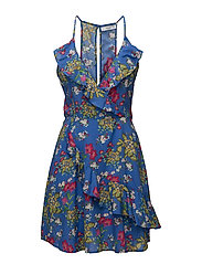 Floral ruffled dress - MEDIUM BLUE