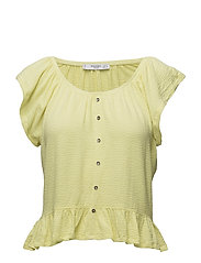 Ruffle t-shirt - YELLOW