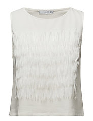 Mango - Fringe Cotton T-Shirt