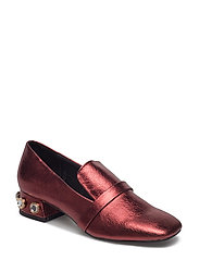 Appliqu heel loafers