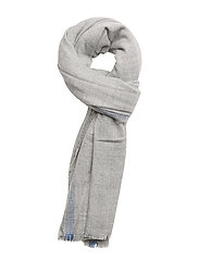Flecked knit scarf - LT PASTEL GREY