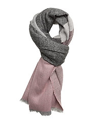 Tricolor striped scarf - PINK