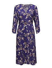 Floral pattern dress - LT-PASTEL PURPLE