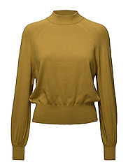High collar sweater - DARK GREEN