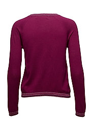 Metallic finish sweater - MEDIUM RED