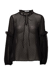 Plumeti blouse - BLACK