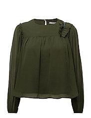 Bead detail blouse - GREEN