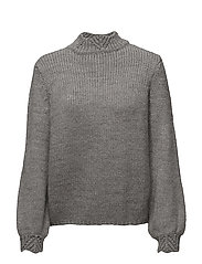 Openwork detail sweater - GREY