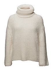 Turtle neck sweater - LIGHT BEIGE