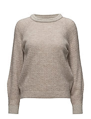 Ribbed metallic sweater - GREY