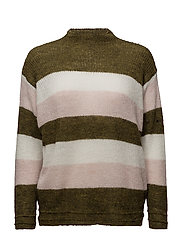 Striped mohair-blend sweater - BEIGE - KHAKI