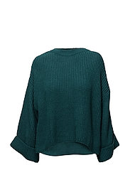 Flared sleeves sweater - GREEN