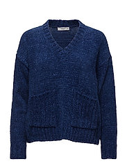 Chenille sweater - NAVY