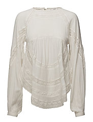 Openwork detail blouse - WHITE
