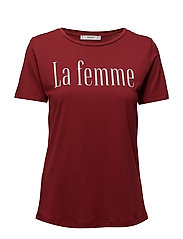 Printed message t-shirt - DARK RED