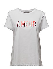 Embossed text t-shirt - WHITE