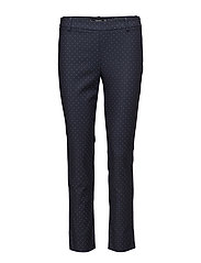Printed cotton trousers - NAVY