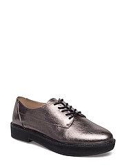 Metallic blucher shoes - SILVER
