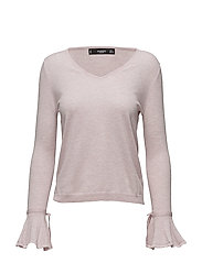 Flared sleeve cotton-blend jumper - PINK