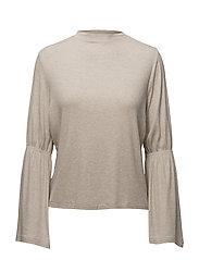 Flared sleeve t-shirt - LT PASTEL GREY