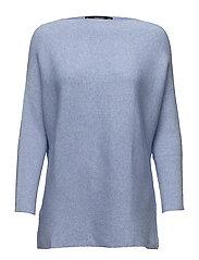Dolman-sleeve sweater - LT-PASTEL BLUE