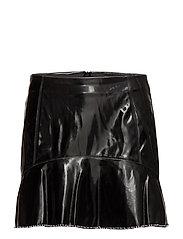 Mango - Ruffled Vinyl Skirt
