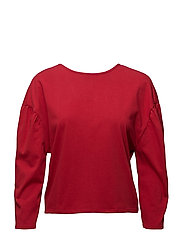 Puffed-shoulder sweatshirt - RED