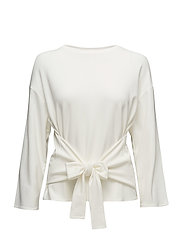 Bow detail sweater - WHITE