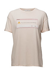 Printed message t-shirt - PINK
