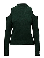 Cold-shoulder sweater - DARK GREEN