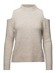 Cold-shoulder sweater - LT PASTEL GREY