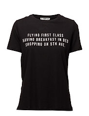 Printed message t-shirt - BLACK