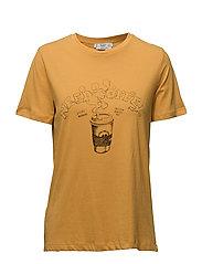 Printed message t-shirt - MEDIUM YELLOW